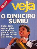 Capa de Veja - Março de 90 (Fonte-Arquivo Veja)