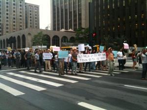 Protesto por Pinheirinho na Paulista